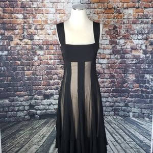 Maggie London Black Sheer Layer Dress Size 4